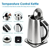 Aicok Electric Kettle Variable Temperature Control Kettle with 6 Temp Setting 1.7L Water Kettle, Stainless Steel Water Boiler with Auto Shut Off Boil Dry Protection, 1500W