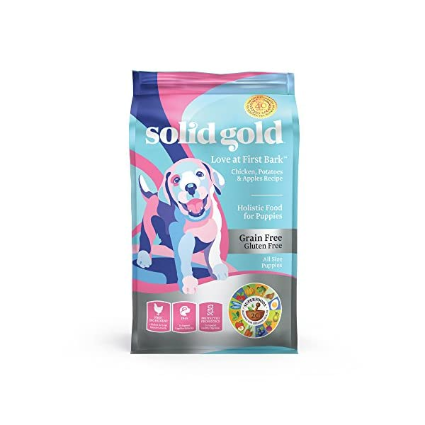 Solid Gold – Love at First Bark – Natural Dog  Puppy Food – Holistic Superfoods Rich Food for Puppies of All Sizes & Breeds