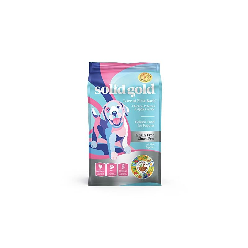 dog supplies online solid gold - love at first bark - natural dog puppy food - holistic superfoods rich food for puppies of all sizes & breeds
