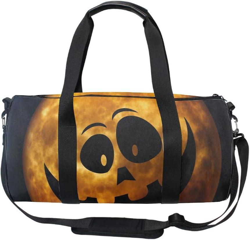 Halloween Jack-o-lantern Gym Duffle Bag Drum tote Fitness Shoulder Handbag Messenger Bags
