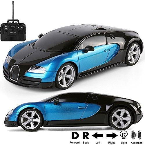 1:18 Scale Radio Remote Control Sport Racing Model Car Super Fast Sports Toy Car, Blue / - Veyron Technology Bugatti