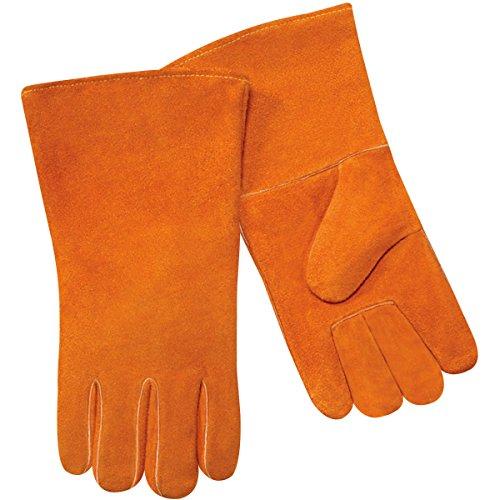 Steiner 02108-L Welding Gloves, Economy Brown Shoulder Split Cowhide Full Cotton Lining, Large (12-Pack) (Welding Gloves Economy)