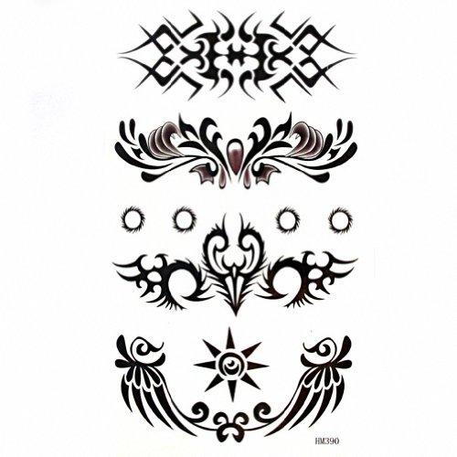 MapofBeauty Cool Tribal Armband Waterproof Temporary Tattoo Body Art Sticker 2 Sheets Per Pack