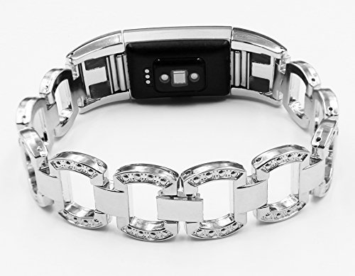 For Fitbit Charge 2 Bands, Premium Metal Strap Jewelry Wristband Watch Bracelet Accessory Band for Fitbit Charge 2 /Fitbit Charge 2 Band ( No Tracker )