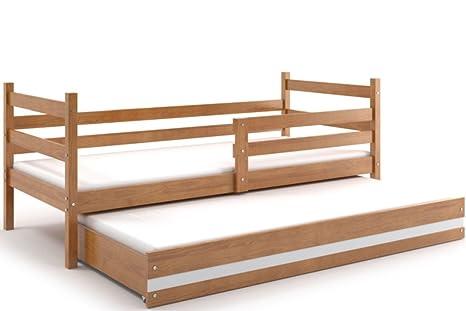 Letti Estraibili Bambini : Lettino per bambino eryk doppio letto con il secondo letto