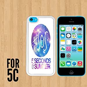 diy zheng5 SOS Five Seconds Of Summer nebula Custom made Case/Cover/skin FOR Apple iphone 5c - White - Rubber Case ( Ship From CA)