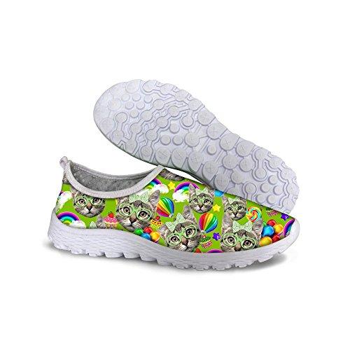 Para U Diseños Moda Ligera Mujeres Niñas Malla Ventilar Personalizada Agua Correr Zapatos Verde