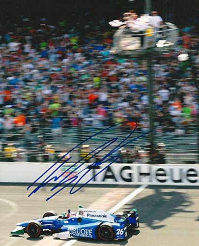 TAKUMA SATO signed 8x10 INDY 500 CROSSING FINISH LINE photo IRL INDY with COA - Autographed Sports Photos ()
