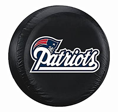 New England Patriots Black Tire Cover - Standard Size - Licensed NFL Football Gift
