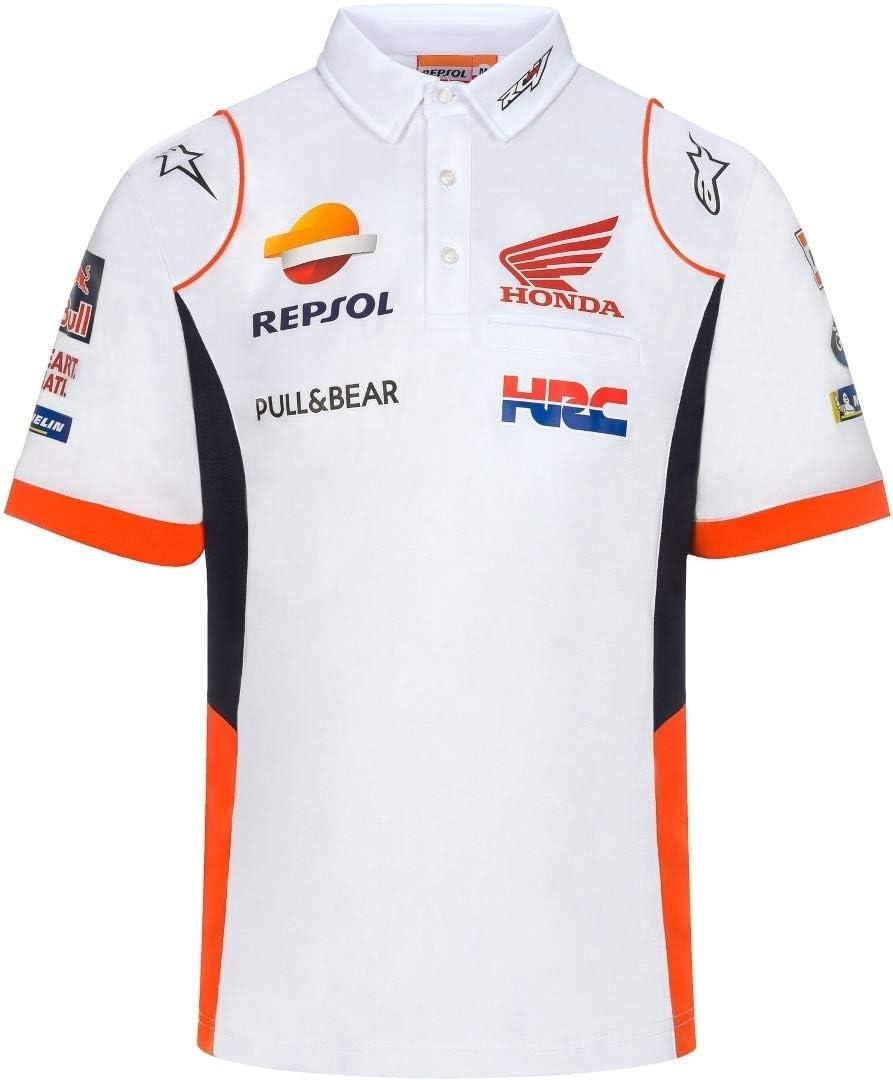 HONDA Repsol Moto GP Teamwear Panel Logos Blanco Polo Camisa ...