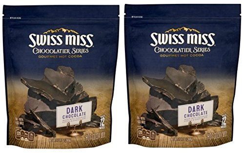Swiss Miss Chocolatier Series Dark Chocolate Gourmet Hot Cocoa Mix, 12.7 Ounces (Pack of 2) by Swiss Miss