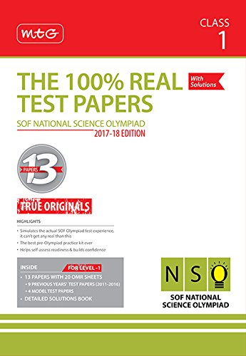 Price comparison product image The 100% Real Test Papers (NSO) Class 1
