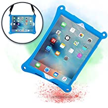 Apple iPad Air 2 case, iPad Pro 9.7 case with Stand, Shoulder Strap, Hand Strap | COOPER BOUNCE STRAP Shock Proof Silicone iPad Air case | Easy to Clean, Multi-Functional, Kid Friendly cover (Blue)