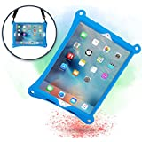 Cooper Bounce Strap Shoulder Strap Rugged Case Compatible with Apple iPad Pro 10.5   Multi-Functional Shock Proof Heavy Duty Cover with Stand, Hand Strap   Adults Kids Friendly   A1701 A1709 (Blue)