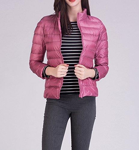 Jacket Down Lighweight Collar Jacket with Packable Pink Stand Winter Puffer Light Women 56xw7q7