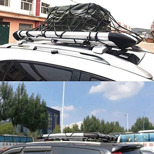 Filet de toit de voiture toit de voiture multifonctionnel universel Hamac souple Hayon Cargo Stockage Net Mesh sadapte pour YJ TJ JK JL