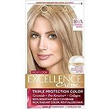 L'Oréal Paris Excellence Créme Permanent Hair Color, 8.5A Champagne Blonde, 1 kit 100% Gray Coverage Hair Dye