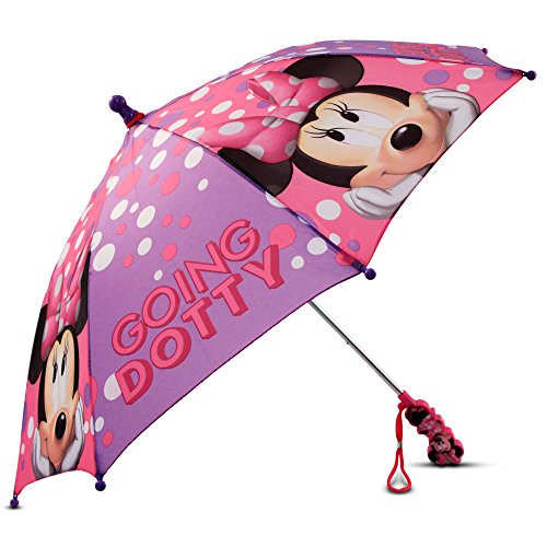 Price comparison product image Disney Little Girls Minnie Mouse Bow-tique Character Umbrella,  Multi