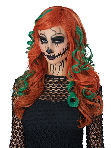 California Costumes Women's Root of All Evil Wig, Auburn/Green, One Size]()