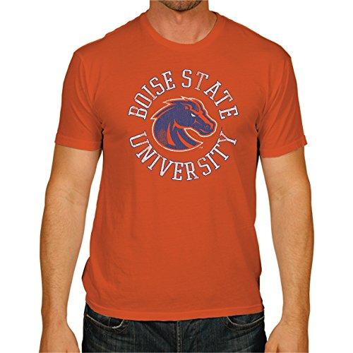 Retro Sport Vintage Tees - Original Retro Brand NCAA Boise State Broncos Men's Victory Vintage Tee, Medium, Orange