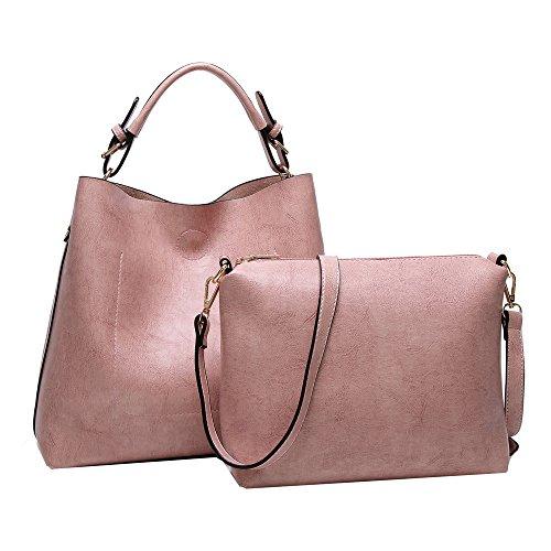 Anne - Bolso de mano Mujer, color rosa, talla M
