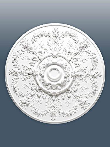 ORAC R64 Ceiling Rose Rosette Medallion Centre quality polyurethane decorative flower white | 95 cm = 37 inch diameter by Orac Décor