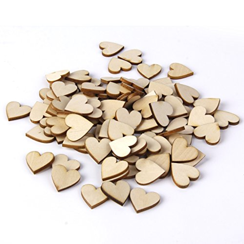 100pcs Blank Heart Embellishments for DIY Crafts - Shop Mall Robinson