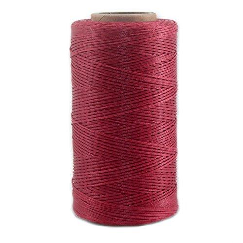 Leather Sewing Thread Stitching String - DIY Craft Flat Waxed Cord 284 Yards (Dark Red) - $7.99