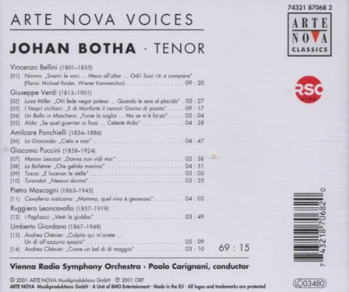Italian Arias by Arte Nova