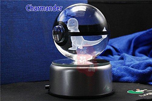 Pokemon Crystal Ball Charmander - K9 Crystal Size 3.1