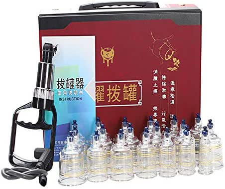 GEHII Vacuum Cupping Set,Magnetic Acupressure Cupping Massager,Chinese Family Medical Health Care,Massage Muscle Joints and Relieve Pain,Men,Women and Children,19 Pcs