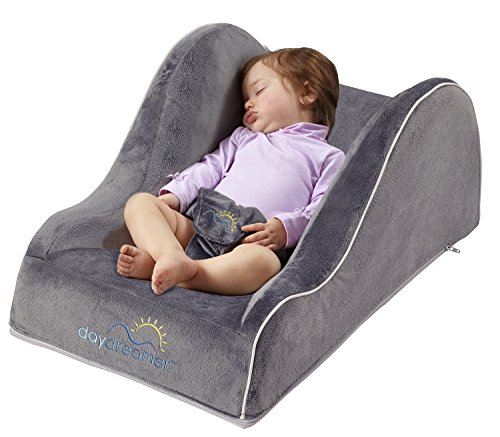 hiccapop Day Dreamer Sleeper Baby Lounger Seat for Infants - Travel Bed - Bassinet Alternative, Charcoal Gray (2 N 1 Bassinet Cradle)