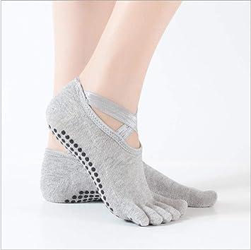 hhjjdf Calcetines De Yoga Sin Respaldo De Ballet Calcetines ...