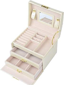 OFNMY Caja de Joyería Estuche de Relojes Organizador para Guardar Joyas, Pendientes,Anillos,Pendientes, Collares, Pulseras, Relojes, Gafas: Amazon.es: Bricolaje y herramientas