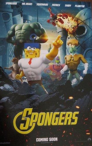 THE SPONGEBOB MOVIE: SPONGE OUT OF WATER - Spongers 13x19.5 Original Promo Movie Poster SDCC 2014 MINT