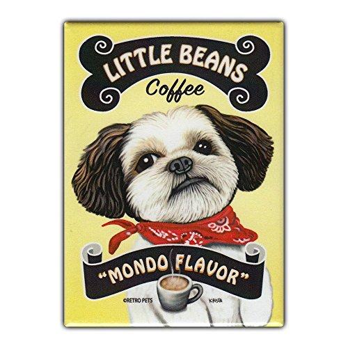 tor Magnet - Little Beans Coffee, Shih Tzu - Vintage Advertising Art - 2.5