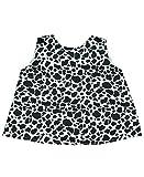 RuffleButts® Infant / Toddler Girls Open Back Print Swing Top - Cow Print - 12-18m