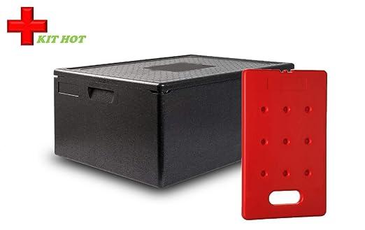 Kit de calor - 1 recipiente de 80 litros + 1 placa caliente de 4 kg: Amazon.es: Industria, empresas y ciencia