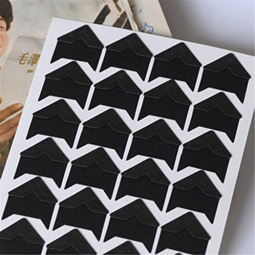 DIY Self-adhesive Photo Corner Scrapbooking Craft Protector Sticker Black