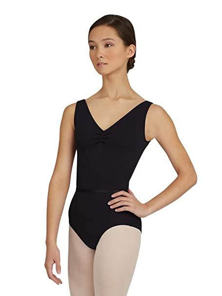 74c6645dcbd56 Capezio Women's V-Neck Pinch Front Leotard w/Belt | Adult Dance Wear -