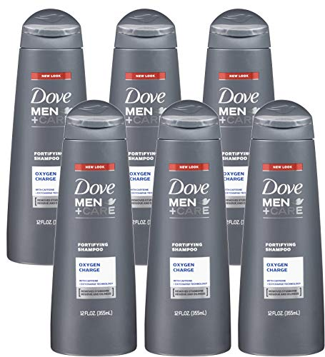 Dove Men + Care Fortifying Shampoo, Oxygen Charge, 12 Ounce (Pack of 6)