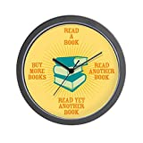 CafePress – Avid Reader (Bright) Wall Clock – Unique Decorative 10″ Wall Clock Review