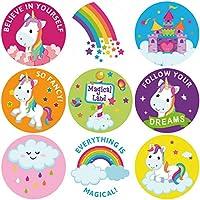 ceiba tree Unicorn Sticker Roll Stickers for Classroom Rewards Party Favor 200Pcs