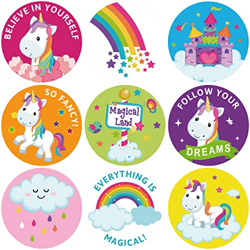 ceiba tree Unicorn Sticker Roll Stickers for Classroom Rewards Party Favor 200Pcs