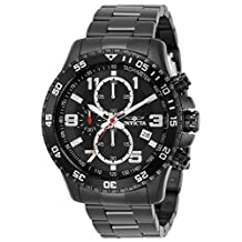 Invicta Men's 14880 Specialty Chronograph Black Dial Black Ion-Plated Stainless Steel Watch