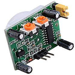 5V SeeKool HC-SR501 Human Body Sensor Module Pyroelectric Infrared PIR Motion Sensor Detector Module For Arduino UNO R3 Mega 2560 Nano KY65, Genuino, Microcontroller Electronics Project, Infrared Sens