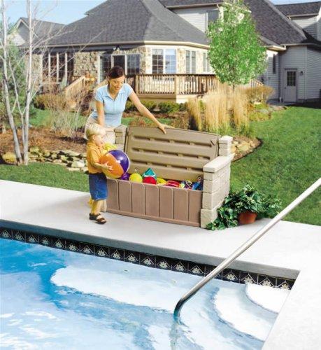 Amazon.com: Step2 Outdoor Storage Bench   Durable Garden Deck Seat With  Roomy Storage: Garden U0026 Outdoor