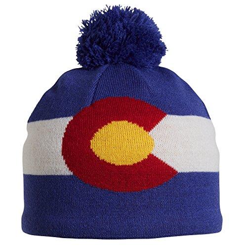 15e35100084 Turtle Fur Colorado Flag Merino Wool Pom Ski (Turtle Winter Cap)