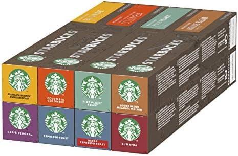 Starbucks Nespresso Variety Pack, 8 Goûts différents, 80 capsules (8 x 10 Capsules)