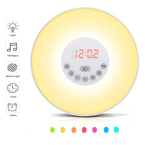 Amazon.com: Luz despertador de color cálido, lá ...